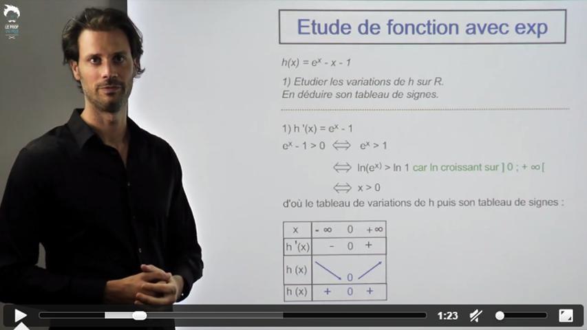 Autre étude de fonction avec exponentielle