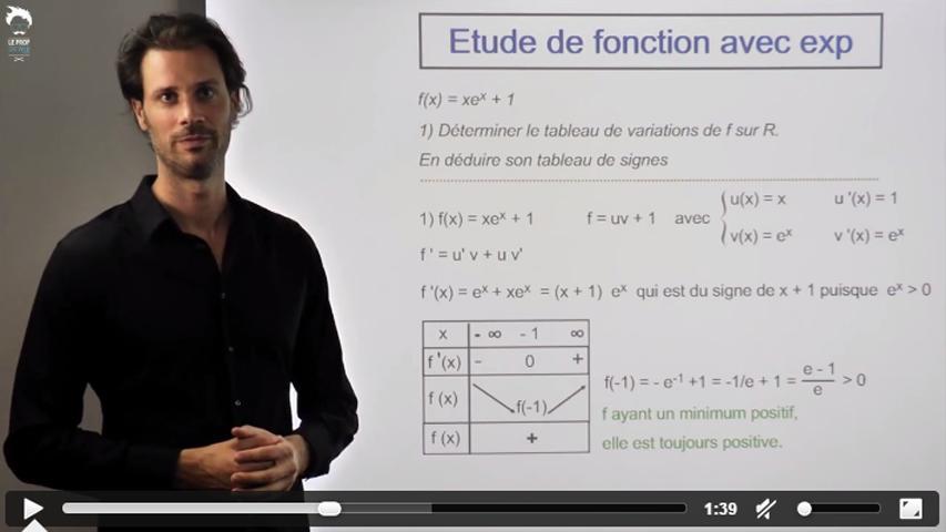 Etude de fonction avec une exponentielle