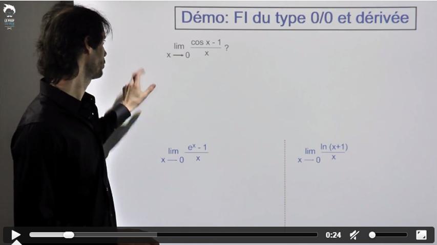 Formes indéterminées du type 0/0 comme sin(x) - 2/2