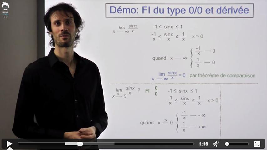Formes indéterminées du type 0/0 et dérivée - 1/2
