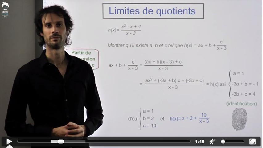 Limites de quotients : problème