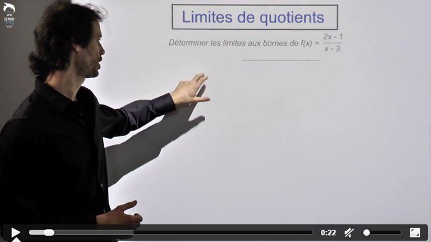 Limites de quotients, deux exercices