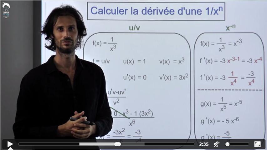 Dériver efficacement une fonction de type 1 / x ^ n