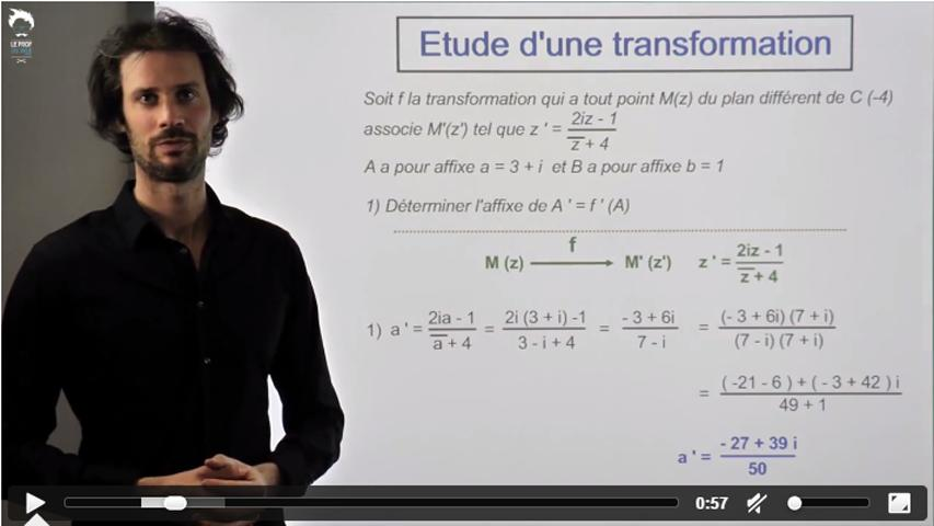 Transformation du  plan complexe : étude 2