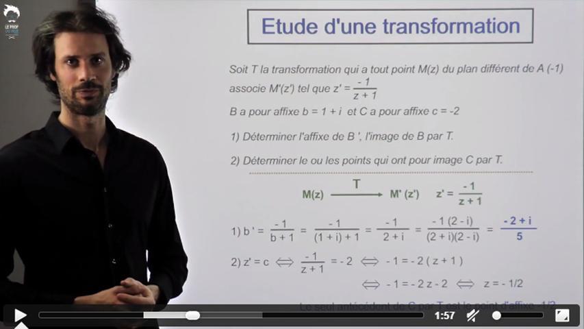 Transformation du  plan complexe : étude 1