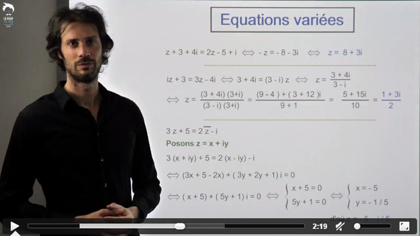 Résoudre des équations dans C : la méthode
