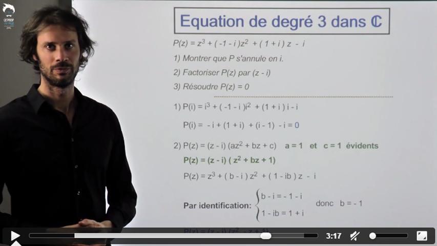 Les équations de degré 3 dans C