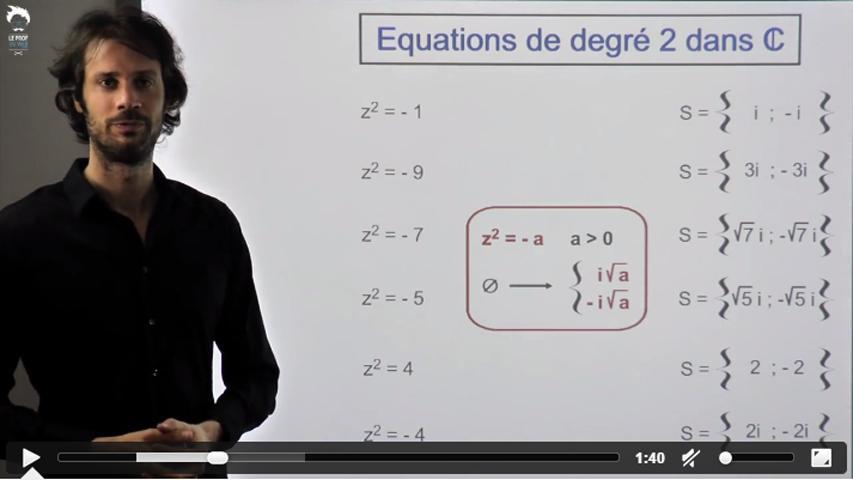 Les équations de degré 2 dans C