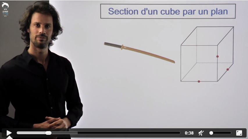 La section d'un cube par un plan