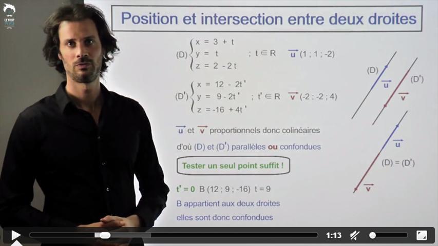 Intersection et positions de deux droites
