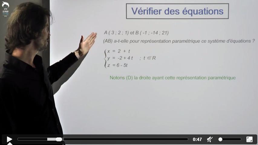 Vérifier une équation