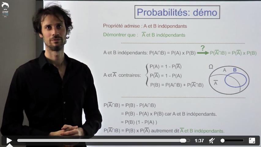Probabilités : démonstration