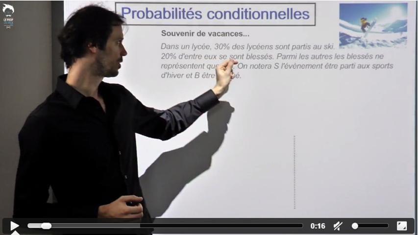 Probabilités conditionnelles : Exercice type