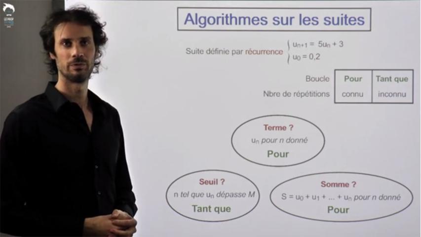 TI-Nspire - Algorithmes sur les suites
