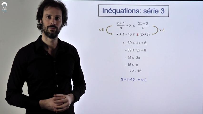 Inéquations: série 3