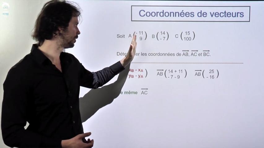 Vecteurs et coordonnées. Applications