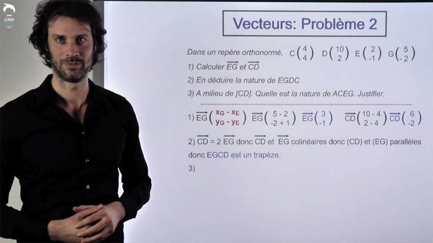 Vecteurs : Problème 2