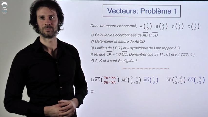 Vecteurs : Problème 1