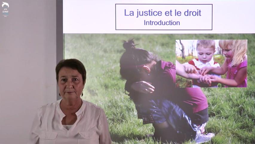 La justice et le droit : Introduction