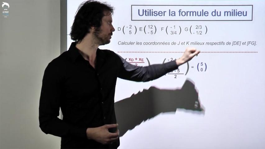 Formule du milieu. Applications