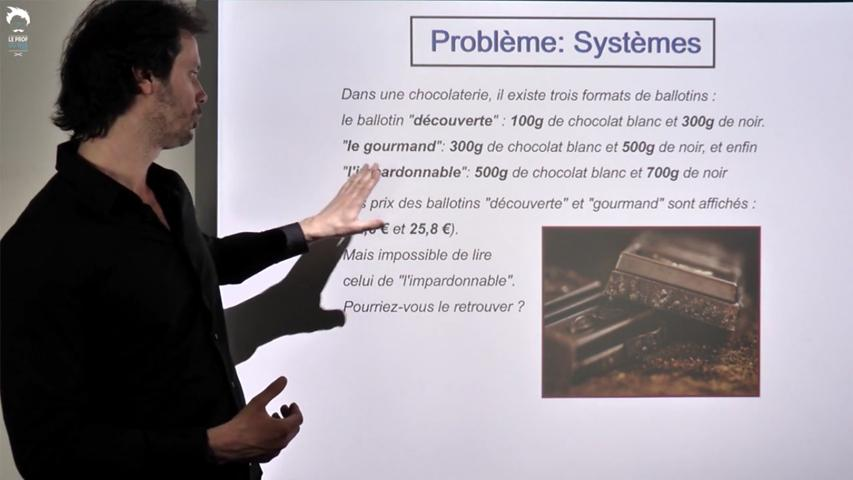 Problème sur les systèmes: la chocolaterie