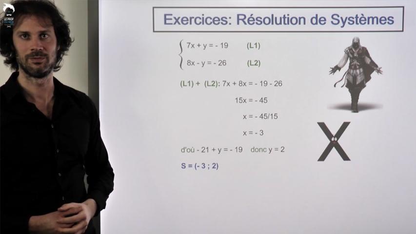Résolution de systèmes par calcul: entraînement