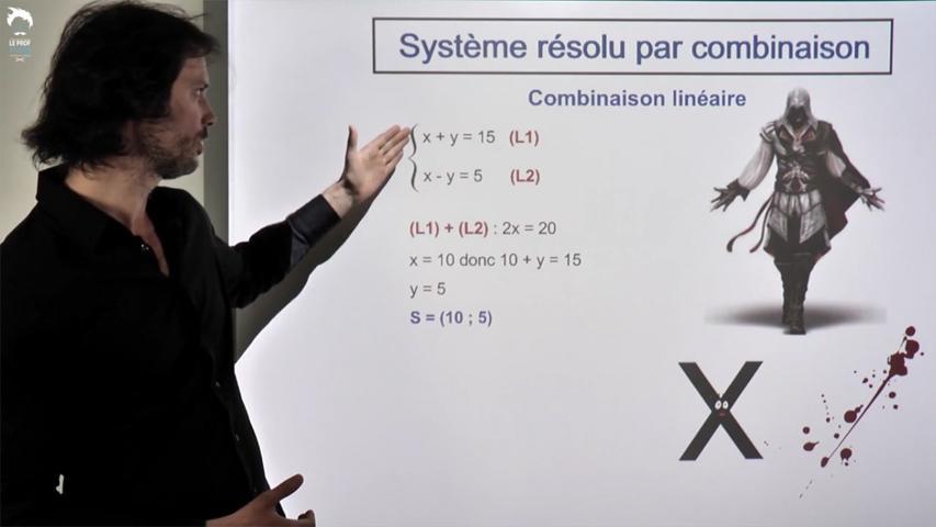 Résolution d'un système par combinaison
