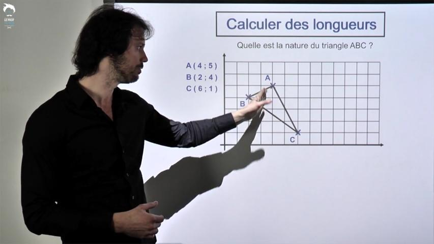 Formule de la longueur et angle droit