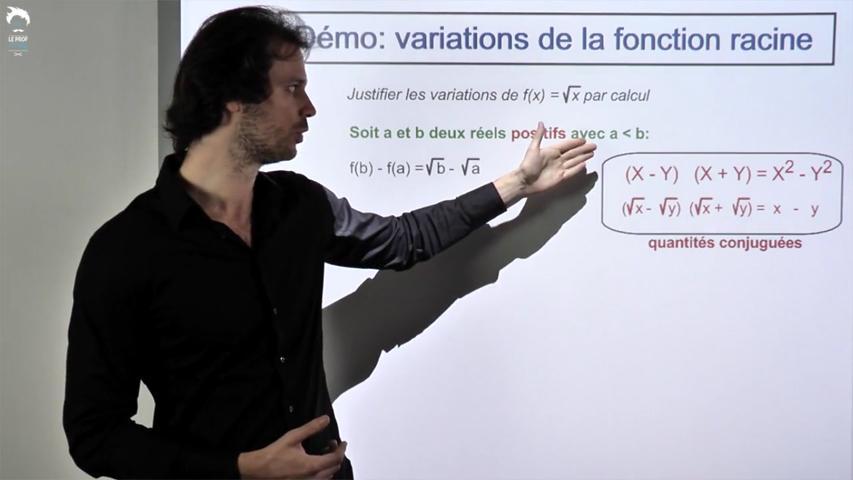Démonstration : Variations de la fonction racine