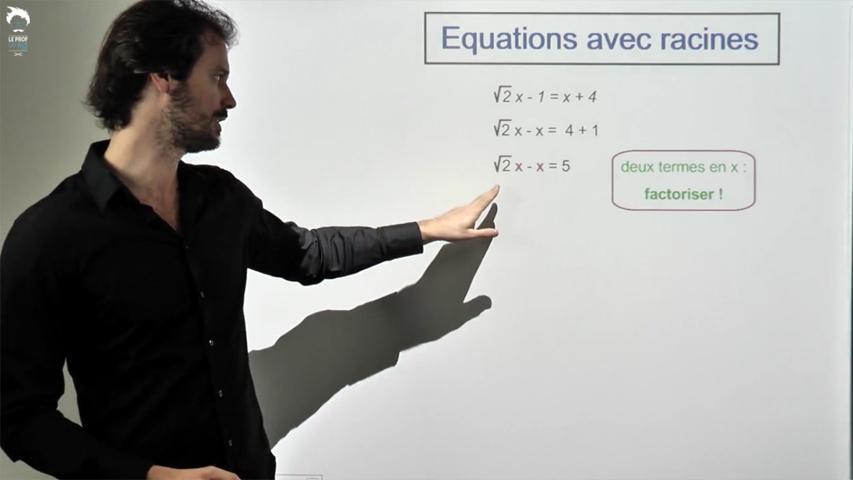 Résoudre une équations avec racines