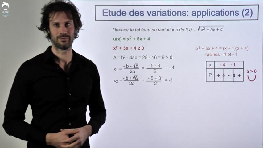 Etude des variations : applications 2/2