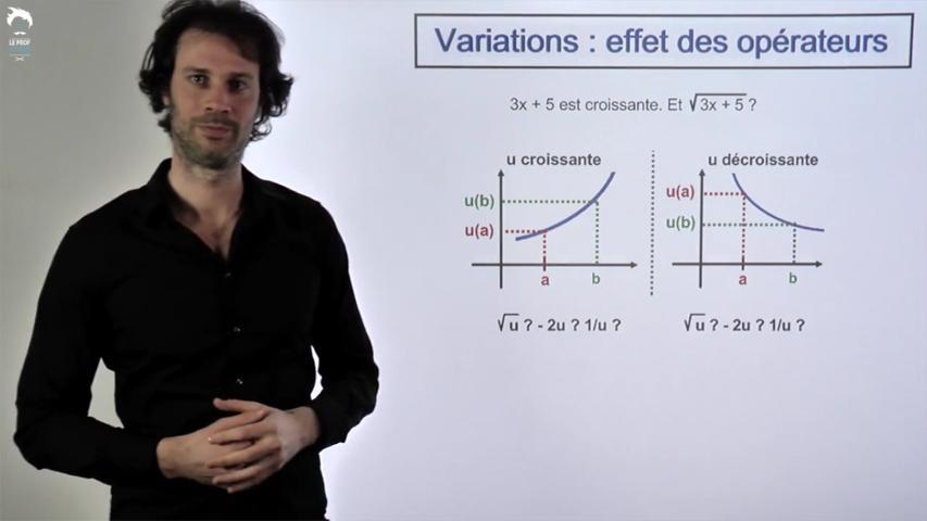 Variations : effet des opérateurs