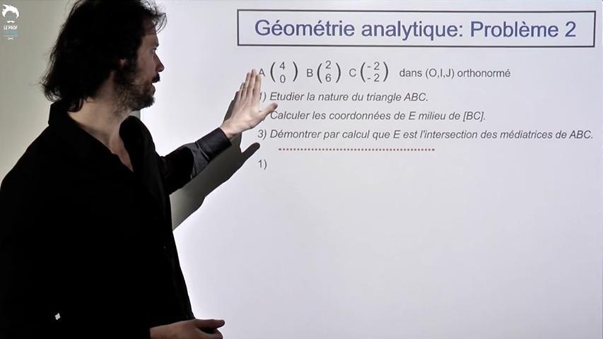 Problème de géométrie analytique - 2