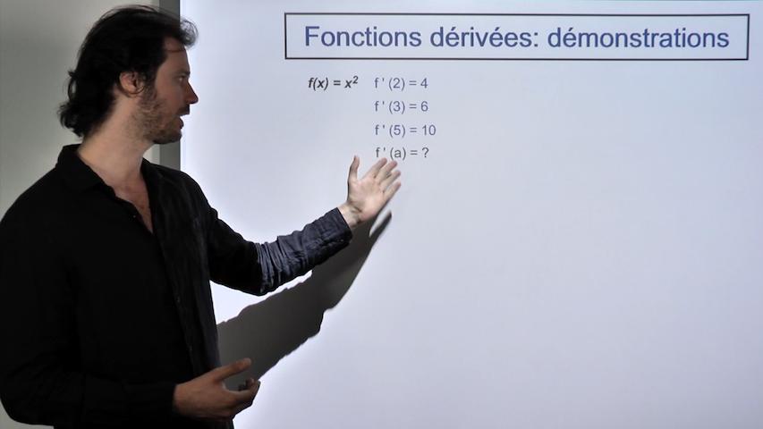 Démonstration des formules de dérivations
