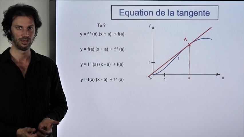 Equation de la tangente