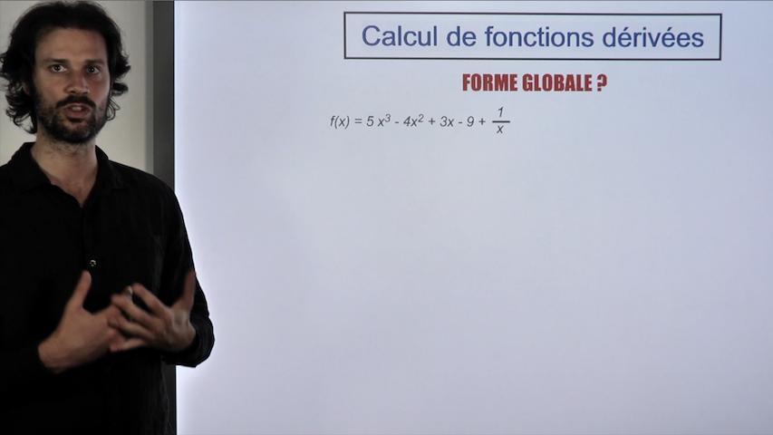 Calcul de fonctions dérivées