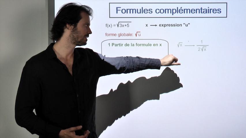 Fonctions dérivées : formules complémentaires