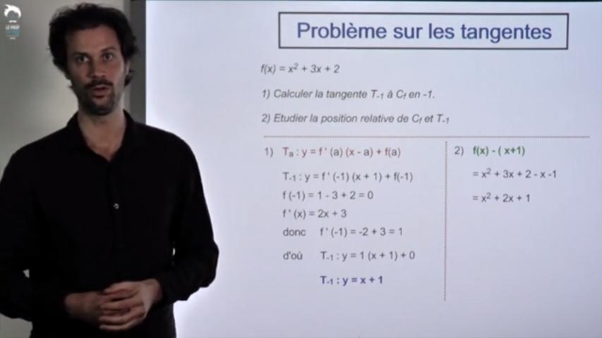 Problème sur les tangentes S