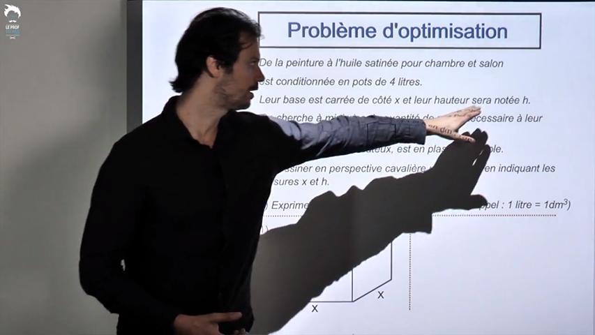 Résolution d'un problème d'optimisation 1/2