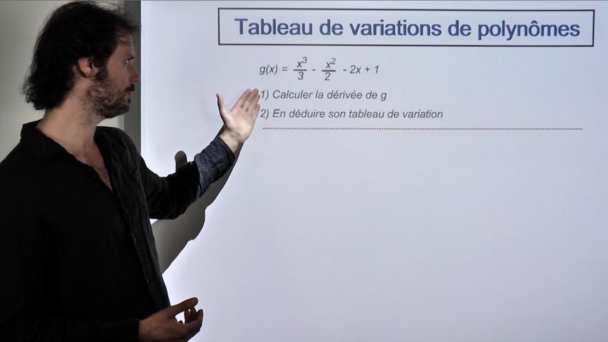 Tableau de variations d'un polynôme de degré 3