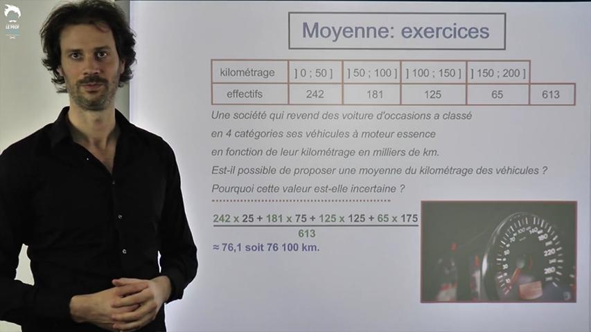 Exercices sur les moyennes