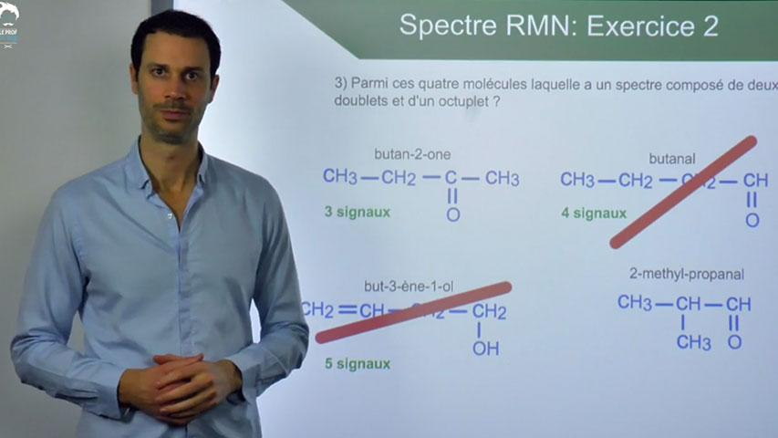 Spectre RMN : Exercice 2