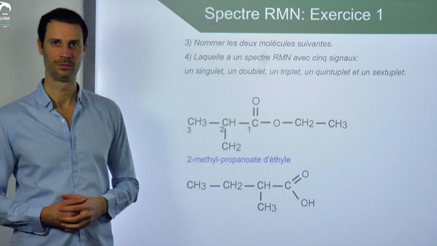 Spectre RMN : Exercice 1