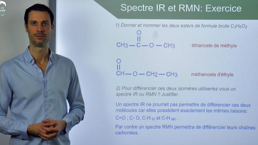 Spectres IR et RMN : Exercice