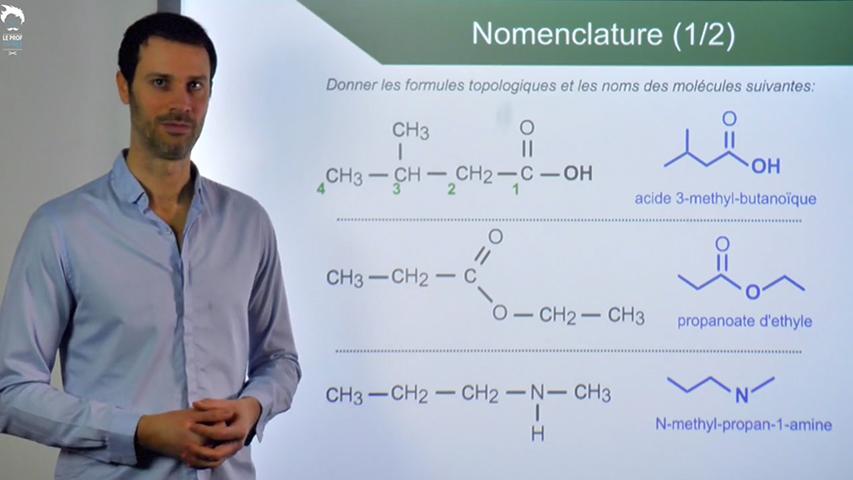 Exercices sur la nomenclature : de la formule au nom