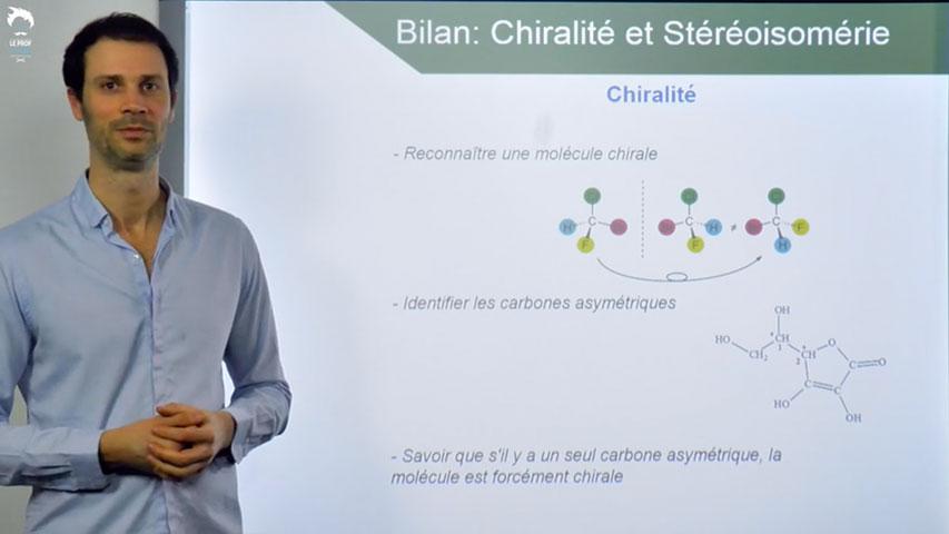 Bilan sur la chiralité et la stéréoisomérie