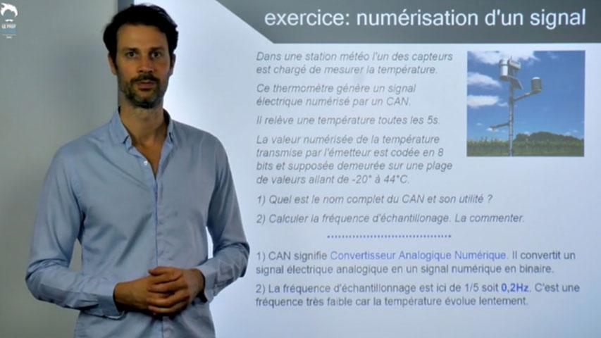 Numérisation : exercice
