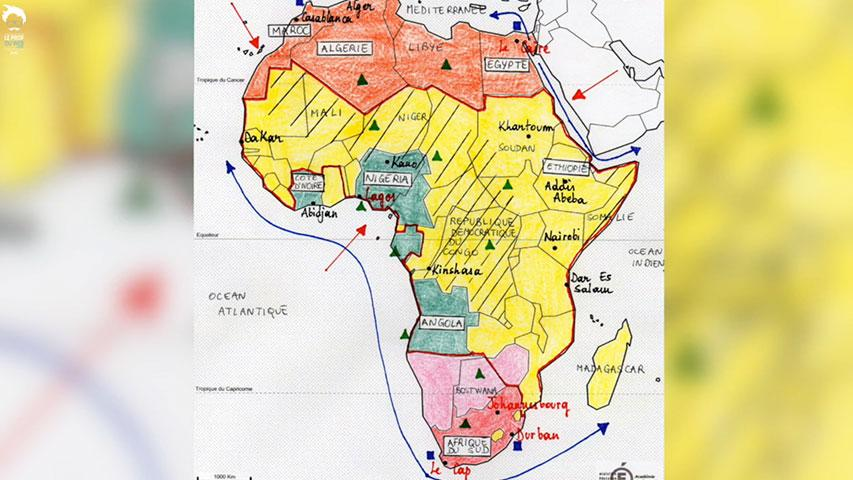 Croquis : Le continent africain face au développement et à la mondialisation